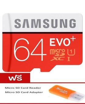 Samsung Micro SD 64GB Class 10 ร่นุ EVO Plus+Free Micro SD Card Reader