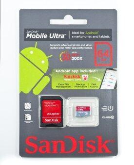 Sandisk เมมโมรี่การ์ด 64GB Mobile Ultra Class 10 UHS-I Micro SD SDXC
