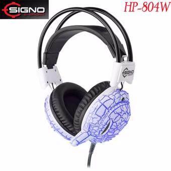 SIGNO E-Sport หูฟังเกมส์มิ่ง มีไฟ 7 สีCentaur 7 LED รุ่น HP-804 (สีขาว) White