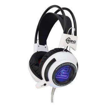 SIGNO E-Sport หูฟังเกมส์มิ่ง Pheonix LED รุ่น HP-808 (สีขาว)
