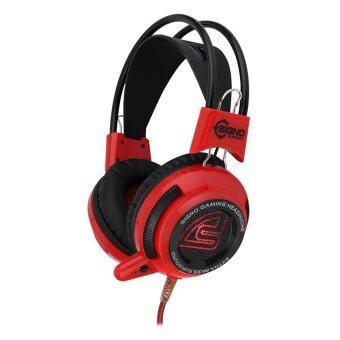 SIGNO E-Sport หูฟังเกมส์มิ่ง Pheonix LED รุ่น HP-808 (สีแดง)