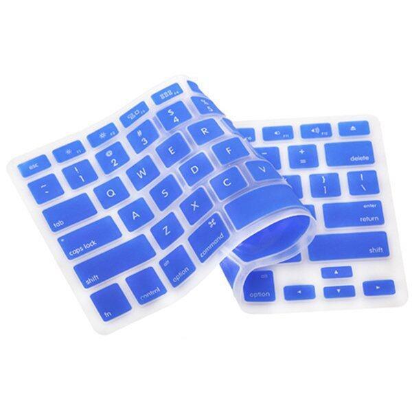 Silicone Keyboard Cover Skin for Apple Macbook Pro MAC 13 15 17 Air 13 (Dark Blue) ...