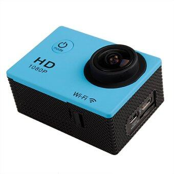 SJ4000 W8 12MP HD 1080P WiFi Helmet Sport Mini DV WaterproofCamerawith Battery (Blue/Black