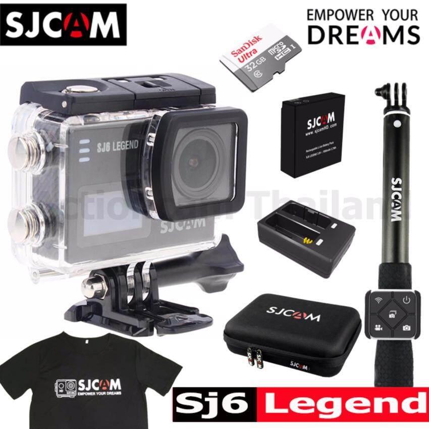 ด่วนSJCAM SJ6 LEGEND 4K,16Mp เมนูไทย+Sandisk 32Gb+Battery+DualCharger+BAG(L)+RemoteSelfie+T-Shirt กำลังลดราคา