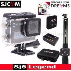 Sjcam Sj6 Legend 4k,16mp เมนูไทย(black)+kingston32gb+battery+dualcharger+bag(l)+remoteselfie ราคา 6,750 บาท(-19%)