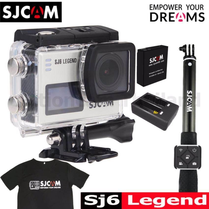 SJCAM SJ6 LEGEND 4K,16Mpเมนูไทย+Battery+DualCharger+RemoteSelfie+T-Shirt ...
