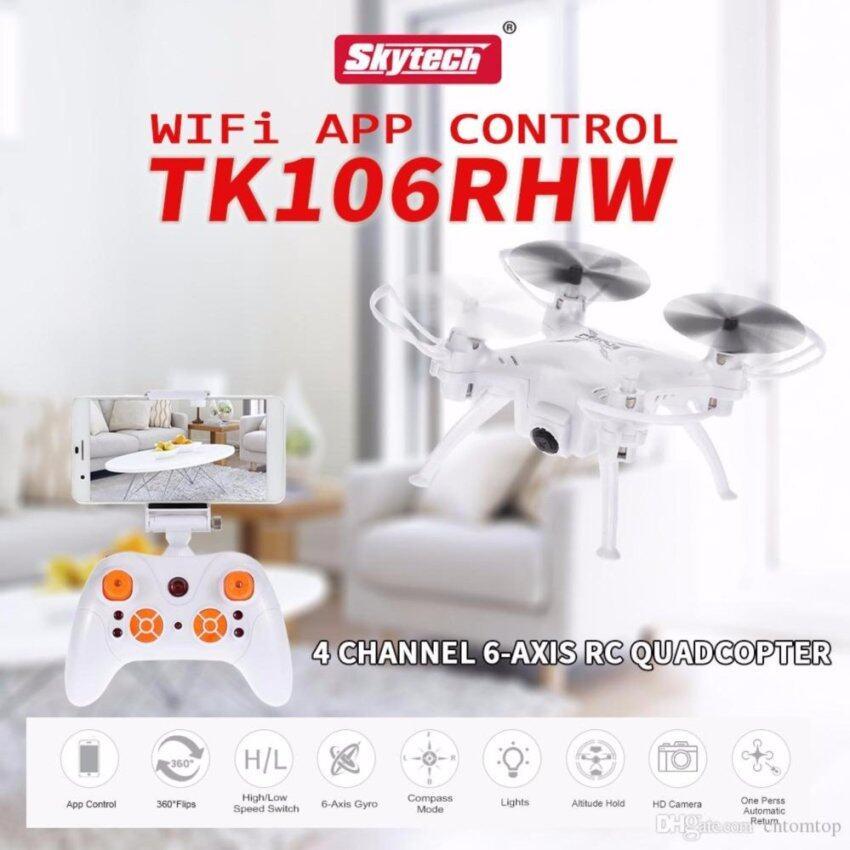 Skytech โดรนขนาดจิ๋ว บินถ่ายภาพ/วีดีโอ ดูภาพผ่านสมาร์ทโฟน TK106RHW Mini RC Quadcopter - RTF