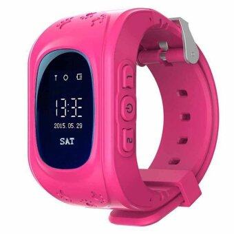 Smart watch Q50 Kid Safe GSM GPS Tracker SIM For Children Phone SOS Watches for iOS Android Alarm Smartwatch (Pink)