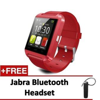 Smart Watch U80 Bluetooth Wireless Connect for Android Smart Device(Red) + Jabra Bluetooth Headset - intl