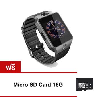 2561 Smart Watch Zนาฬิกาโทรศัพท์Smart Watchรุ่นDZ09 Phone Watch (สีดำ)ฟรีmicro SD Card 16G