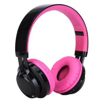 ซื้อ/ขาย Sonun AB-005 หูฟังครอบหู bluetooth สเตอริโอ ไร้สาย เสียงดี รองรับ FM/TF Card MP3 โทรศัพท์ และมีไฟ LED (สีชมพู)
