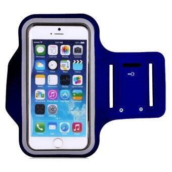 Sport Armband Mobile Phone Cases for Samsung Galaxy S6 Edge (Blue)