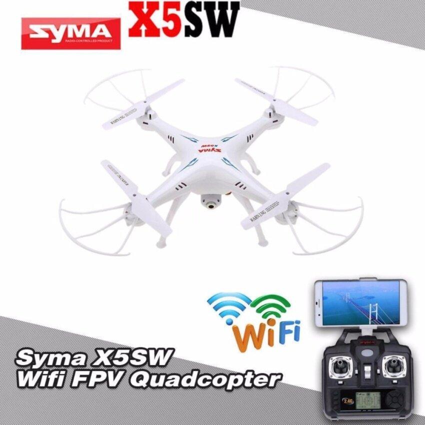 SYMA FPV WIFI โดรนสี่ใบพัดติดกล้องถ่ายภาพมุมสูง / IOS-Android รุ่น X5SW (Black / White)