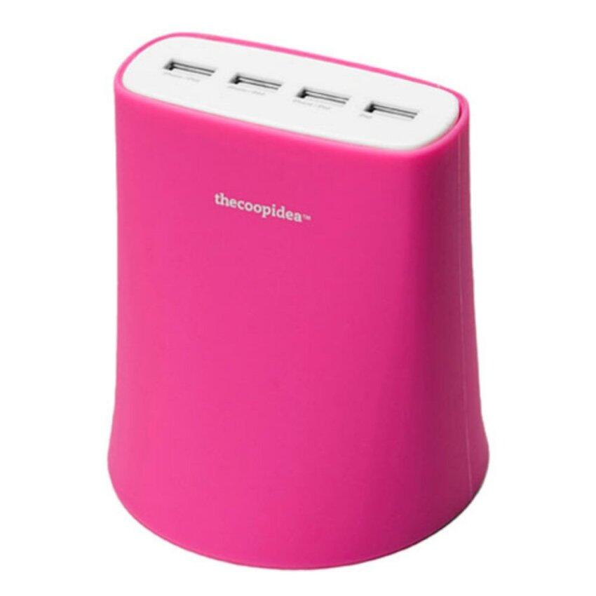 Thecoopidea Adapter Jelly 5.1A USB Charger 4Port for iPod/iPhone/iPad