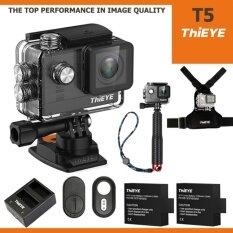 Thieye T5 Uhd 4k 16mp เมนูไทย Ambarella A12, Sony Imx117+batt+charger+tmc Red+chest Mount+remote Bluetooth ราคา 8,330 บาท(-18%)