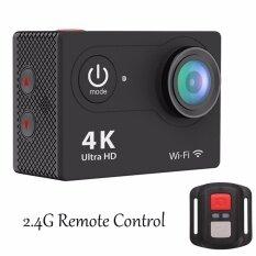 Topwrx 4k Hd Action Camera 2.4g Rf Remote Control 12mp Sports Video Wifi 170° Fisheye Cam Helmet, Underwater Snorkelling Camera Camcorder - Intl ราคา 1,590 บาท(-39%)