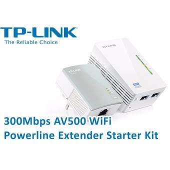 TP-LINK TL-WPA4220KIT 300Mbps AV500 WiFi Powerline Extender Starter Kit - สีขาว