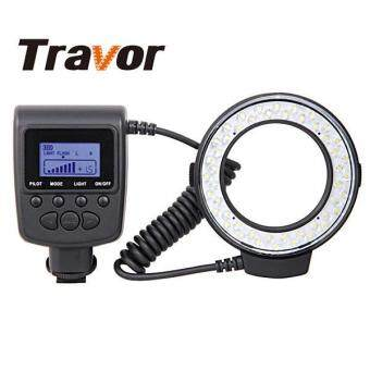 Travor RF-550D 48pcs Macro LED Ring Flash Light for NIKON Canon Olympus Sony(HDMI) DSLR Cameras - intl