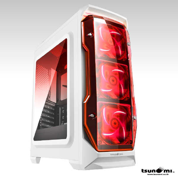 Tsunami X STORM USB 3.0 Gaming Case (with LED 12 CM Fan X 3) WR