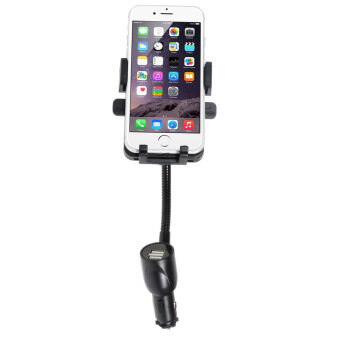 Universal Dual USB Car Charger + Mount Holder for iPhone 6 / 6 Plus Galaxy S6 / S6 Edge - intl