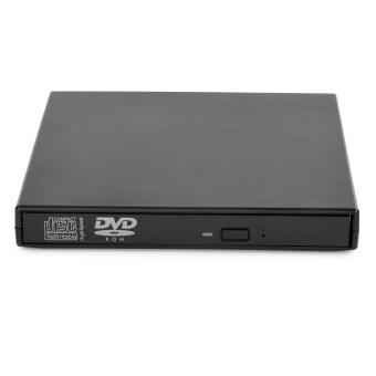 USB 2.0-รอมคอมโบ DVD ภายนอก/DVD ออพติคอลไดรฟ์สำหรับพกพา/คอมพิวเตอร์/คอมพิวเตอร์แท็บเล็ต-สีดำ