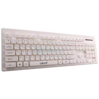 คีย์บอร์ด USB Keyboard OKER (KB-188) White