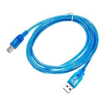 สาย USB TO Printer USB 2.0 ยาว 1.8 M (สีฟ้า)