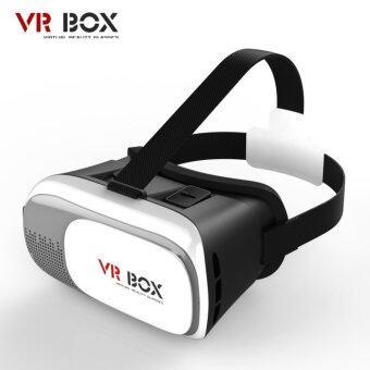 ประเทศไทย VR Box 2.0 VR Glasses Headset แว่น 3D สำหรับสมาร์ทโฟนทุกรุ่น (White)