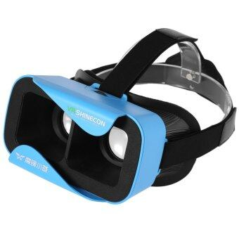 VR Shinecon III 3D Glasses Virtual Reality Headset Private Theater Game Video for 4.7 - 6.0 inch Smartphone (Blue)