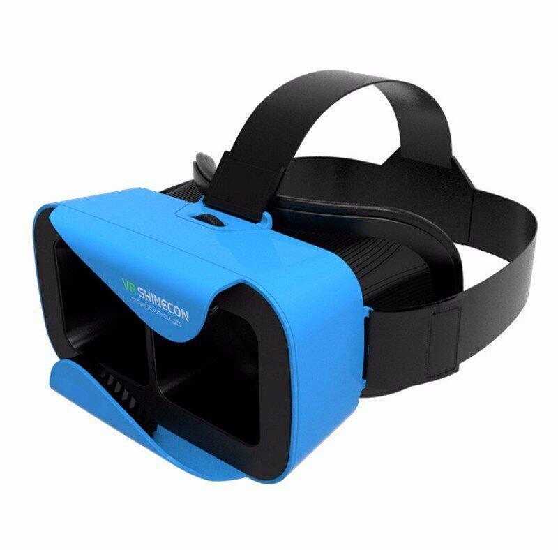 VR SHINECON VIRTUAL REALITY GLASSES สำหรับการดูหนังเล่นเกมแบบ 3D ( สีฟ้า )