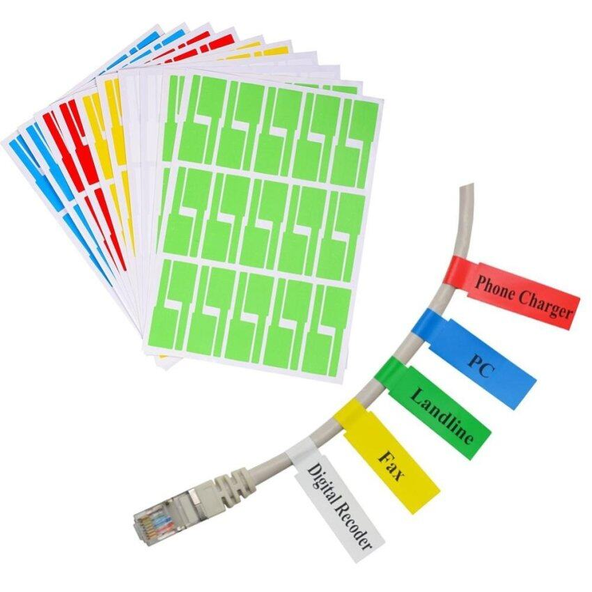 Waterproof Muticolor self adhesive cable labels Tear Resistant Laser Printer 10 sheets. - intl