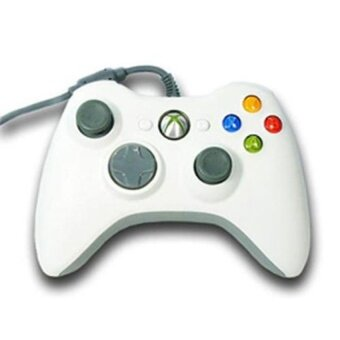 White Wired USB Cable Controller for Microsoft Xbox 360 Console PCComputer Video Game - intl