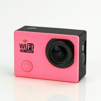 WIFI Action Camera W9 12MP CMOS Full HD 1080P Pink
