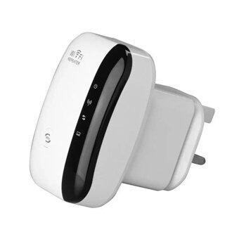 ดูดสัญญาณ WiFi ง่ายๆ แค่เสียบปลั๊ก Best Wireless-N Router 300Mbps Universal WiFi Range Extender Repeater High Speed (White)