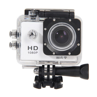 Wifi SJ4000 1080P 12MP Car Cam Sports Camera DV ActionWaterproof(White) - intl