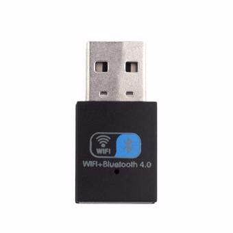 Wifi+Bluetooth 4.0 150Mbps Mini Wireless USB WIFI Adapter LAN WIFI Network Card (Black) - intl