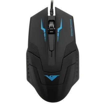 Wired USB Optical LED Gaming Mouse Game Mice 1600DPI For Pro Gamer (Black)