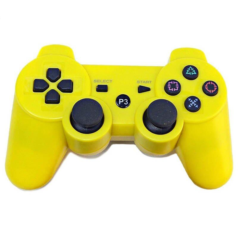 Wireless Bluetooth Remote Controller Joystick For PS3 (Yellow) - Intl