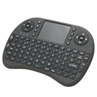 Wireless Mini Keyboard 2.4G Keyboard Air Mouse Gaming Keyboard for PC Notebook Android (Black)