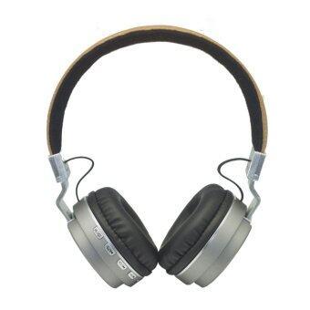 Wireless Speaker หูฟังบลูทูธ 4.0 รุ่น Metal Sport Beat Bluetooth BT008 (สีเงิน)