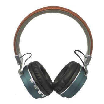 Wireless Speaker หูฟังบลูทูธ 4.0 รุ่น Metal Sport Beat Bluetooth BT008 (สีน้ำเงิน)
