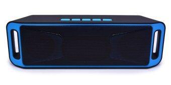 Wireless Speaker Super Bass Bluetooth ลำโพงบลูทูธ ไร้สาย รุ่นs208 สีน้ำเงิน