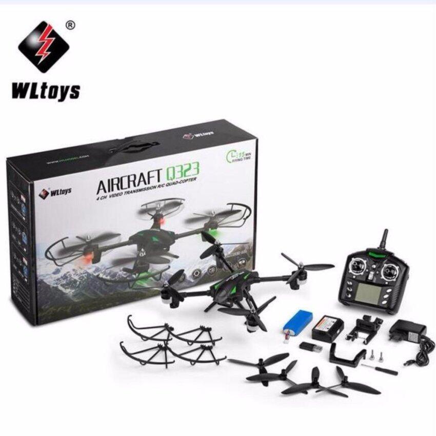 WL Toys โดรนติดกล้อง WL Toys Q323-B WiFi กล้อง 720P พร้อมแขนตัวลำเป็น Carbon Fiber บินนาน 15 นาที (สีดำ)