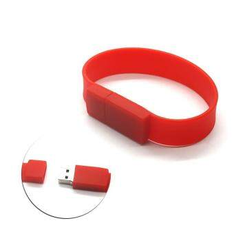 Wrist Bracelet USB Flash Drive 16GB USB 2.0 pen drive_red