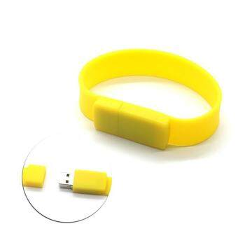 Wrist Bracelet USB Flash Drive 16GB USB 2.0 pen drive_yellow