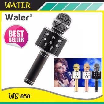 2561 Wster Wireless Microphone HIFI Speaker WS-858 เครื่องเล่นคาราโอเกะ บลูทูธ ไร้สาย ไมโครโฟนคอนเดนเซอร์ ลำโพง ในตัวเดียว (สีดำ)
