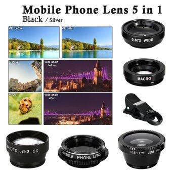 XCSource 5ใน1 กล้องมือถือโทรศัพท์มือถือเซลฟี CPL 2.0 x ไกลเลนส์เหมาะสำหรับ Galaxy S5 DC648