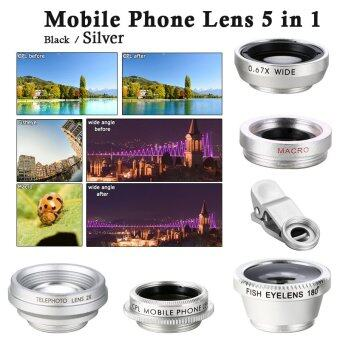 XCSOURCE ชุดเลนส์ 5in1 FishEye Wide Angle Macro CPL 2.0X Tele Lens สำหรับ For iPhone 5S 6