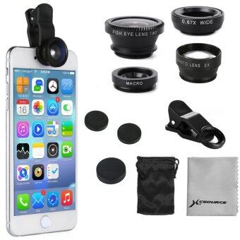 XCSource Fisheye Wide Angle Macro Selfie 2.0X Tele Lens for iPhone 5S 6S 6 Plus