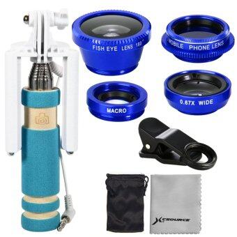 XCSource Wide Angle + FishEye + Macro + CPL Lens Selfie Stick For Samsung S4 i9600